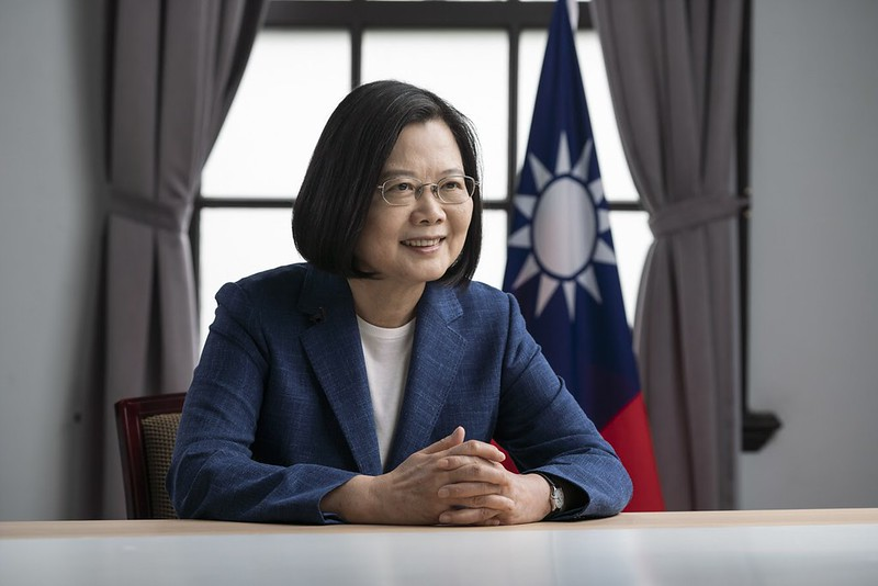 President Tsai addresses the Copenhagen Democracy Summit by video at the invitation of the Alliance of Democracies.