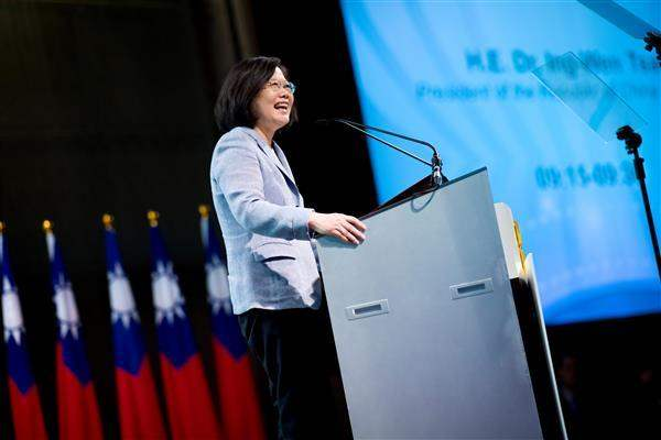 President Tsai delivers remarks at the Taiwan-ASEAN Dialogue.