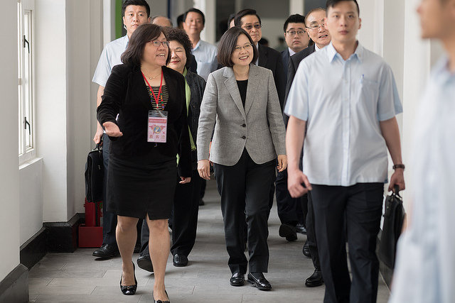 President Tsai Ing-wen attends the inauguration ceremony for the Institute for National Defense and Security Research.