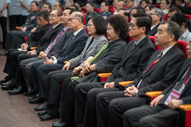 President Tsai attends the inauguration ceremony for the Institute for National Defense and Security Research.