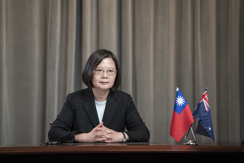 President Tsai delivers a virtual address at the Indo-Pacific Leaders Dialogue session.