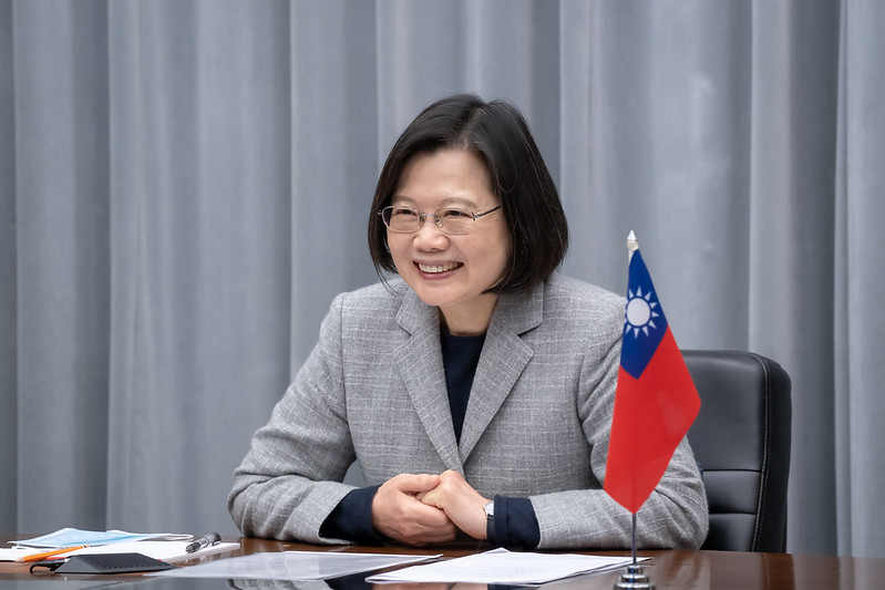 President Tsai Ing-wen meets with US Ambassador to UN Kelly Craft via videoconference.
