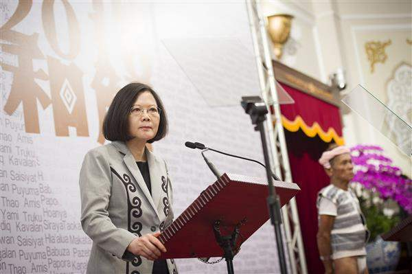 President Tsai issues an official apology to the indigenous peoples.