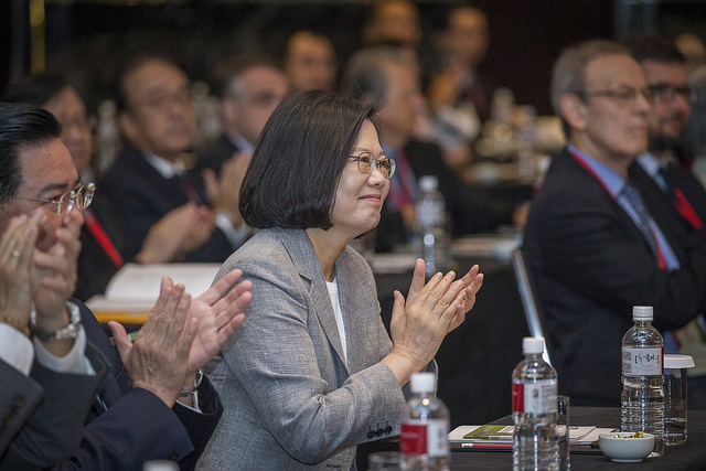 President Tsai attends an opening ceremony celebrating the 15th anniversary of the Taiwan Foundation for Democracy.