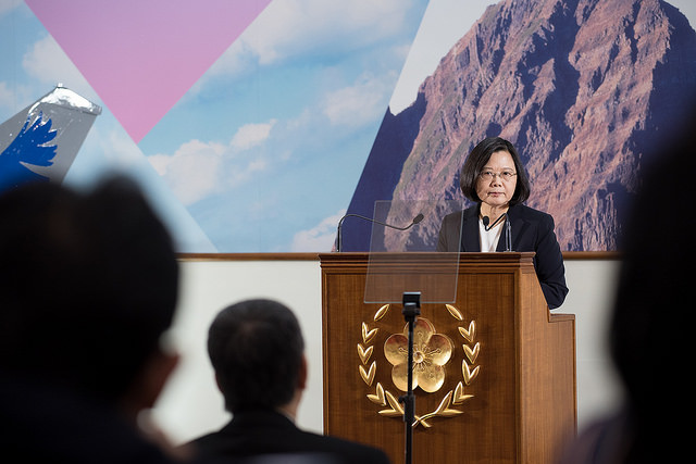 President Tsai takes part in the 2017 year-end press conference for the Presidential Office press corps.