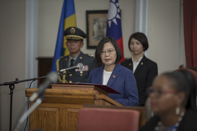 President Tsai addresses St. Vincent and the Grenadines House of Assembly.