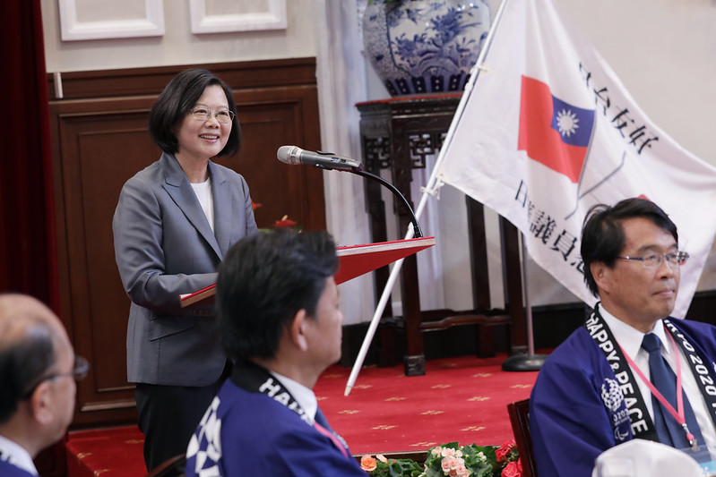 President Tsai addresses a congratulatory delegation from Japan visiting Taiwan to celebrate National Day.
