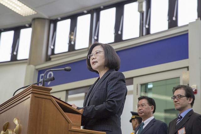 President Tsai explains the key objectives of her visit to Swaziland before boarding her chartered plane.