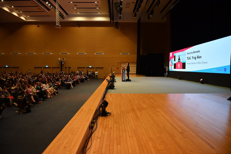 President Tsai attends the fourth World Conference of Women's Shelters in Kaohsiung.