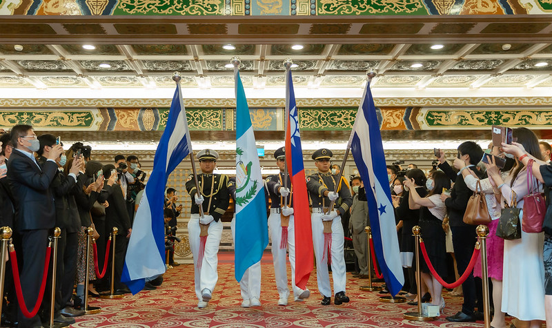 President Tsai Ing-wen attends a reception for the 199th anniversary of the independence of Central America.
