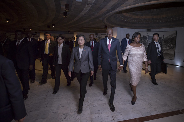 "President Tsai and her delegation arrive in Haiti for her state visits themed ""Journey of Freedom, Democracy, and Sustainability."""