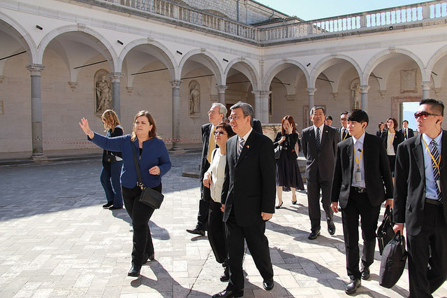 Vice President Chen visits the Montecassino Abbey during the trip to Vatican.