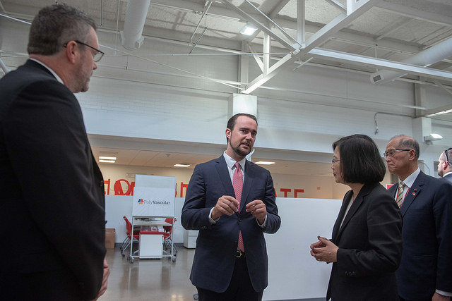 President Tsai Ing-wen visits the Texas Medical Center (TMC) Innovation Institute.