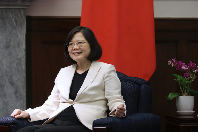 President Tsai meets with a delegation of parliamentarians from the United Kingdom.