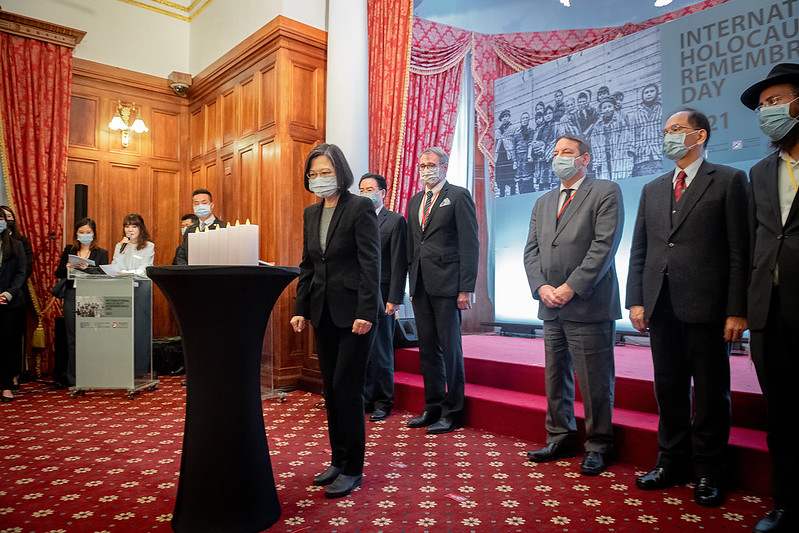 President Tsai attends an International Holocaust Remembrance Day event.