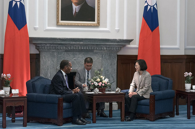 President Tsai Ing-wen meets with Haitian Minister of Foreign Affairs Antonio Rodrigue.