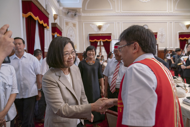 President Tsai attends the 10th meeting of the Presidential Office Indigenous Historical Justice and Transitional Justice Committee.