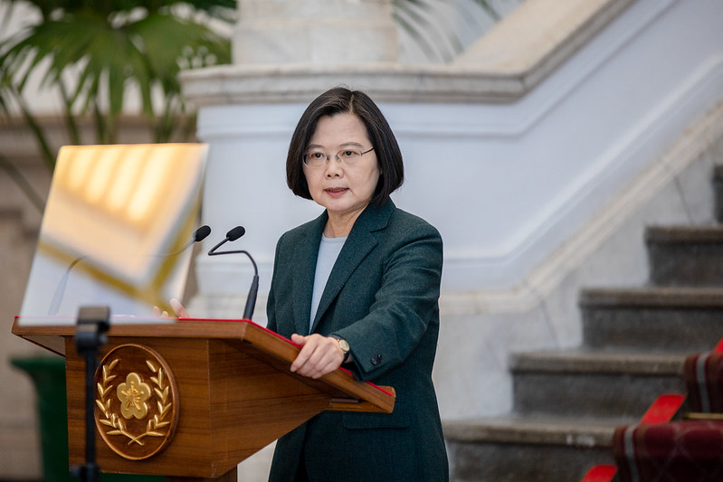 President Tsai issues remarks regarding the government's response to COVID-19 pandemic.