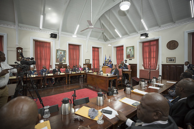 President Tsai gives an address to St. Vincent and the Grenadines House of Assembly.