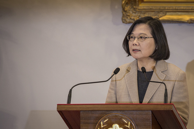 President Tsai delivers a new year's address for 2019 in the Presidential Office auditorium.