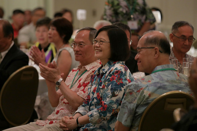 President Tsai attends a luncheon with Taiwanese expatriates in Honolulu.