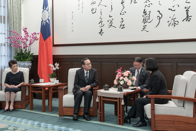 President Tsai meets with Takao Fujii, Chairman of National Federation of Japan-Taiwan Friendship Associations, and Mrs. Fujii.