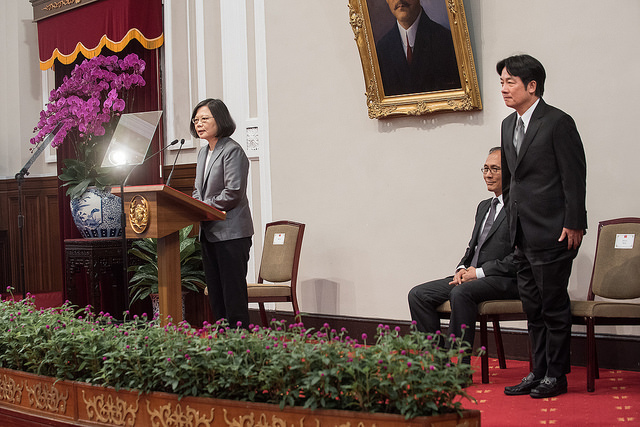 President Tsai announces that she accepted Premier Lin Chuan's resignation, and that his successor will be Tainan City Mayor William Lai.