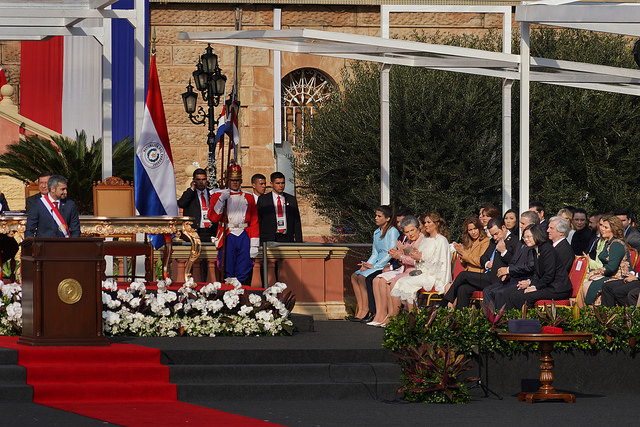 President Tsai Ing-wen attends the inauguration of Paraguayan president and vice president.