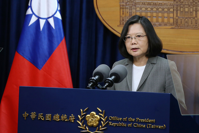President Tsai delivers remarks regarding Panama's decision to end diplomatic relations with the Republic of China (Taiwan).