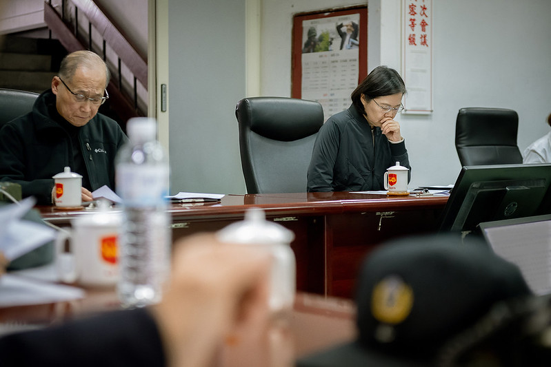 President Tsai receives a briefing on a devastating accident involving a Taiwan military Black Hawk helicopter.