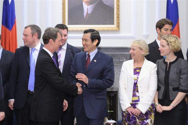 President Ma Ying-jeou meets parliamentary delegation from UK on June 2.