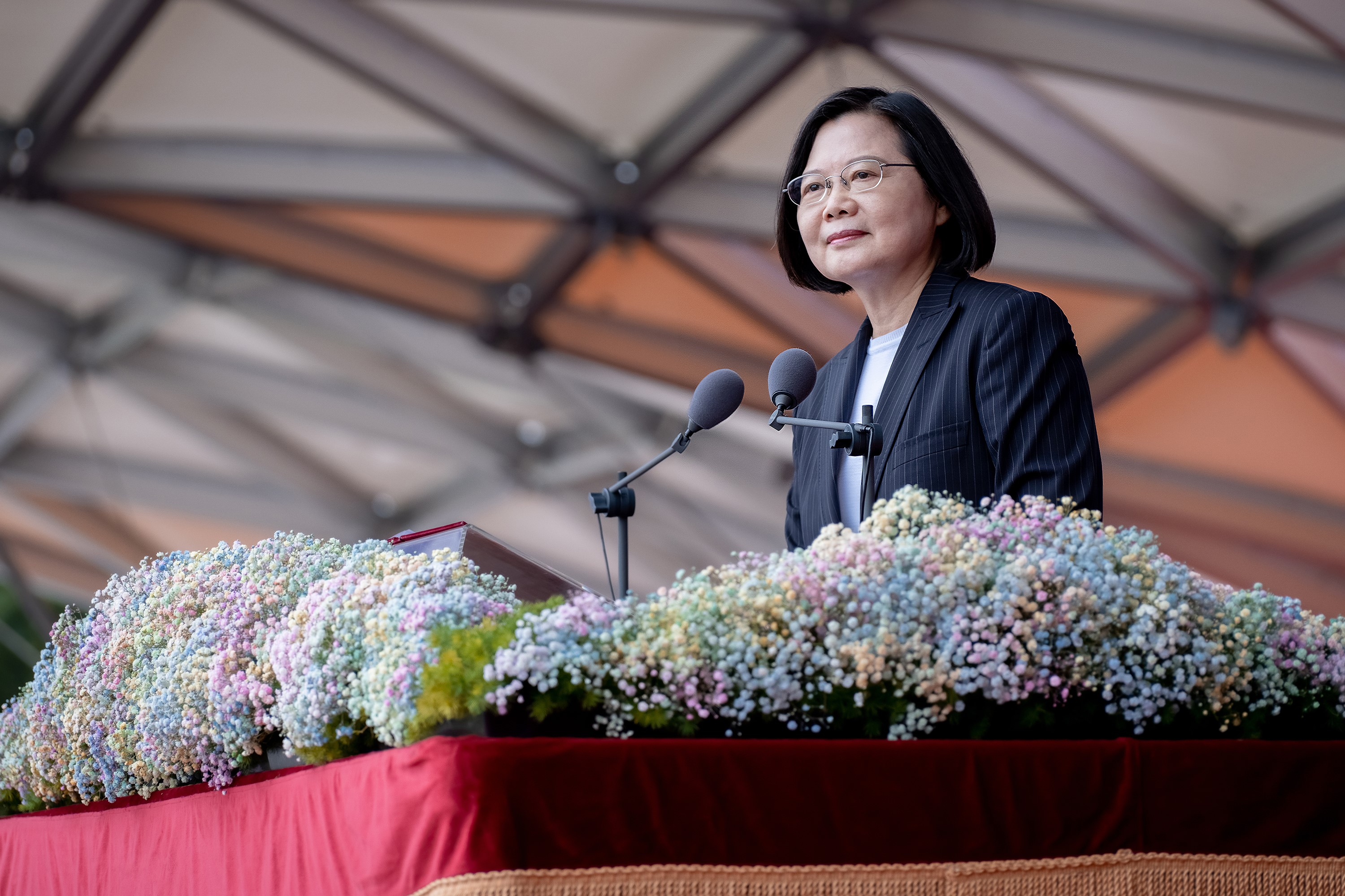 "President Tsai delivers an address entitled ""2020 Proud of Taiwan."""
