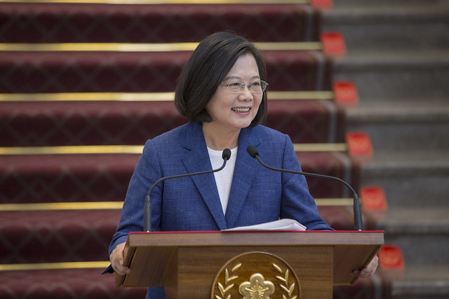President Tsai issues statement regarding the situation in Hong Kong.