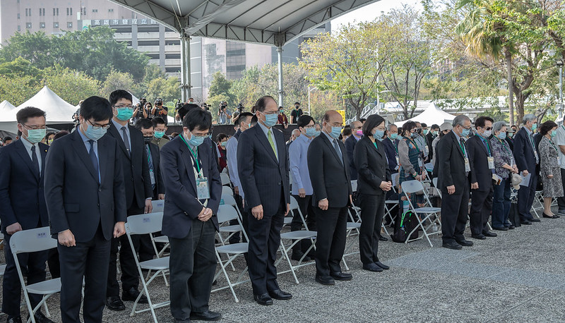 President Tsai attends a memorial ceremony marking the 74th anniversary of the 228 Incident.