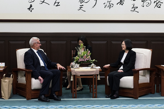 President Tsai meets with Mr. Guido Galperti, Vice President of the Italy-Taiwan Parliamentary Friendship Group.