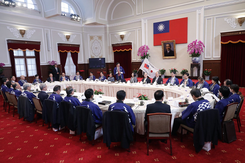 President Tsai hosts a luncheon for a congratulatory delegation from Japan visiting Taiwan to celebrate National Day.