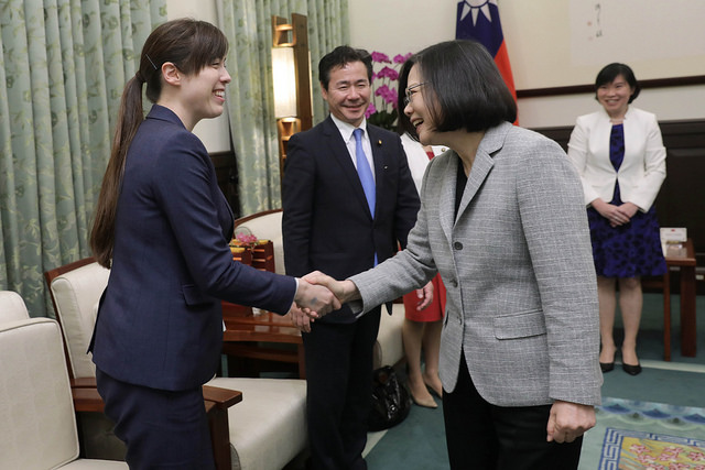 President Tsai meets with a delegation led by Mr. Hirofumi Takinamia, a Liberal Democracy Party member of the Japanese Diet.