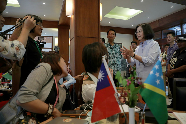 President Tsai responds to questions from reporters.