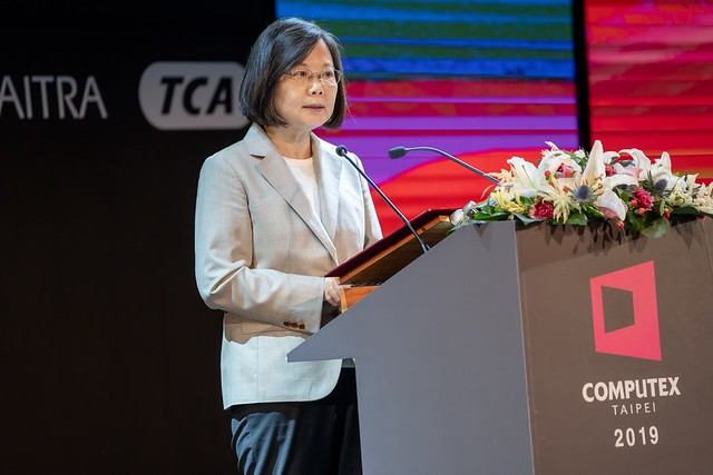 President Tsai delivers remarks at the opening ceremony for COMPUTEX 2019.