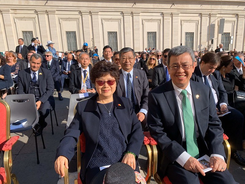 Vice President Chen and Mrs. Chen attend  the canonization of British Cardinal John Henry Newman and four other blesseds.