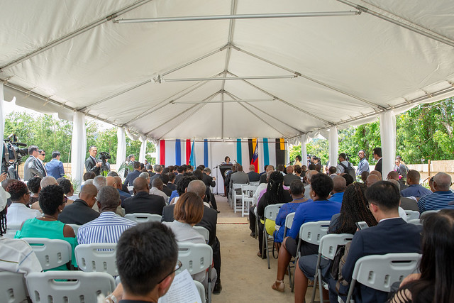 President Tsai attends St. Jude Hospital Reconstruction Project launch ceremony in St. Lucia.