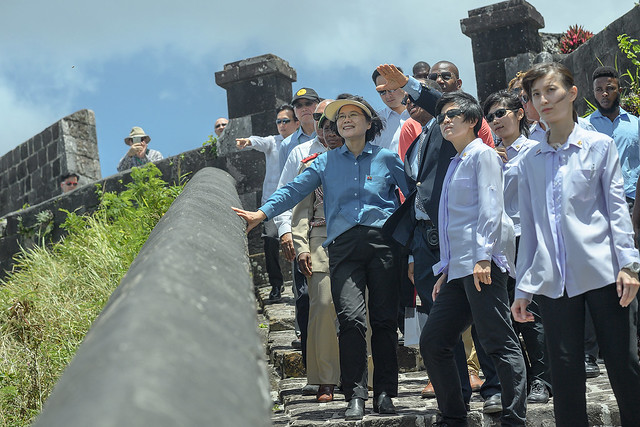 President Tsai visits Brimstone Hill Fortress National Park in St. Christopher and Nevis.