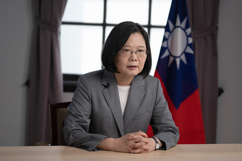 President Tsai addresses Taiwan's diplomatic, security, and economic challenges at a videoconference jointly sponsored by US-based think tanks.