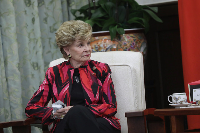 US Congresswoman Madeleine Bordallo is also in the delegation led by Rob Wittman, Chairman of US House Seapower and Projection Forces Subcommittee.