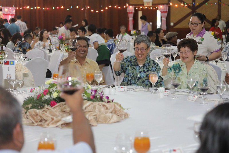Vice President Chen hosts a luncheon celebrating 20th anniversary of Taiwan-Palau diplomatic relations.