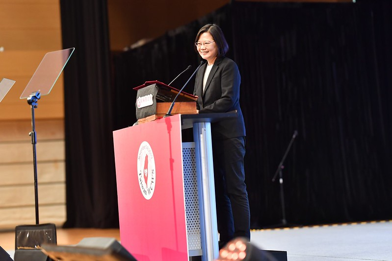 President Tsai addresses the fourth World Conference of Women's Shelters.