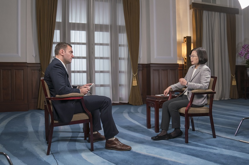 President Tsai is interviewed by Time magazine.