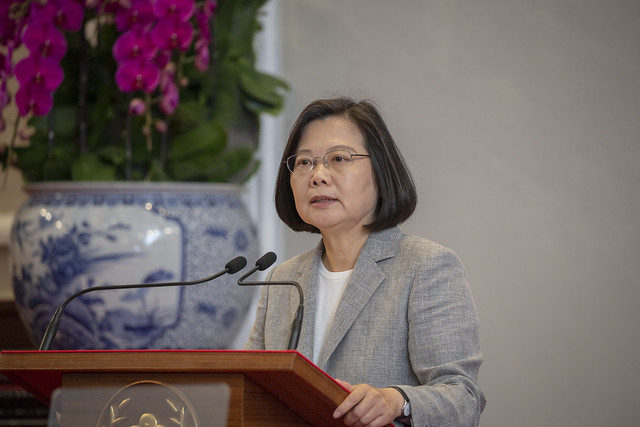 President Tsai convenes a press conference to share with the public her administration's achievements over the past three years.