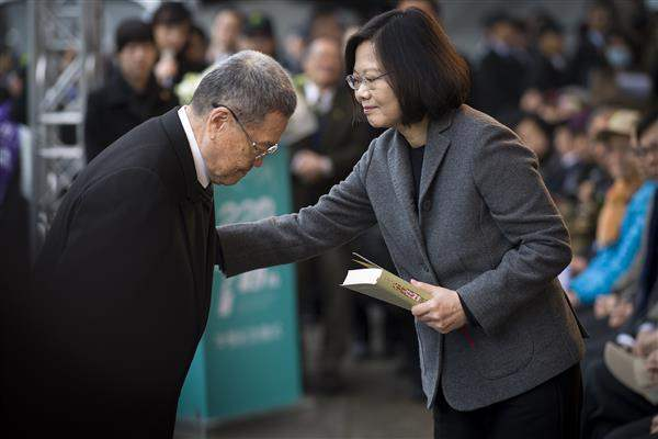 President Tsai attends the nation's main memorial ceremony to mark the 70th anniversary of the 228 Incident.