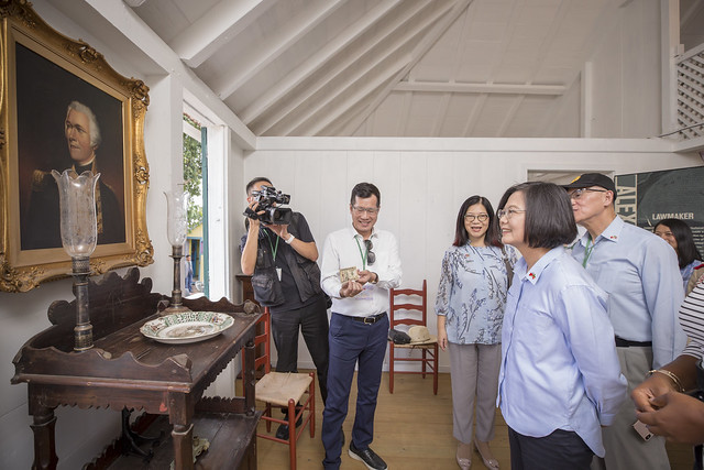 President Tsai visits the Museum of Nevis History and Alexander Hamilton's birthplace.